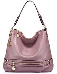 3b18a96f6e0e Real Leather Handbags for Women Large Handbag Hobo Bag Ladies Handbag  Shoulder Handbag with Multiple Pockets