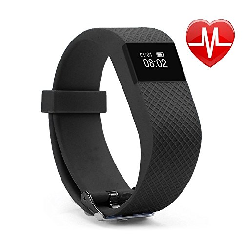 DISCOUNT on NAKOSITE HRFT2433 Best Fitness Activity Tracker Watch, Pedometer, Step Counter, Calorie Counter, Distance, Sleep Monitor, HEART RATE Monitor, Sport Watch, Bluetooth 4.0 for Android 4.4 or IOS 7.1 and above. PLUS: SMS, Caller ID, Alarm Alert, Anti-Phone Loss, Find Phone, Take Photos, SNS Alerts such as Whatsapp and Facebook. Colour Black, 365 days Guarantee. Bonus: Fitness Ebook