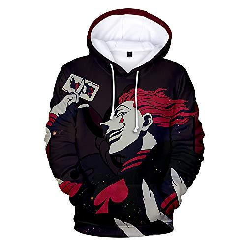 Wycdbk 3D Hoodies Sweatshirts 3D HD Print Pullover Unisex Anime Tops Jacke (XS-3XL) Hunter Hisoka XXXL -