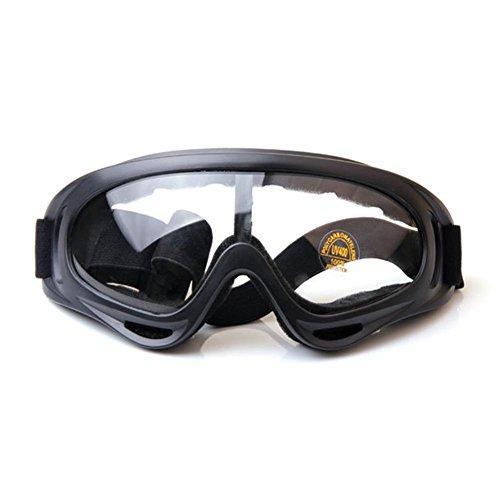 JING Outdoor Cross Country Sport Sonnenbrillen Tactical Resistance Sturmbrillen Motorrad Winddicht Gläser für Ski und Reiten, Transparent