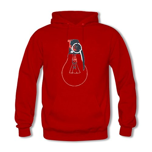 HKdiy Moment In the Sun Custom Men's Printed Hoodie Red-2