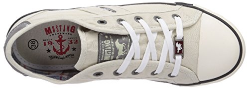 Mustang 1099302 0, Baskets mode femme Blanc Cassé (203 Ice)