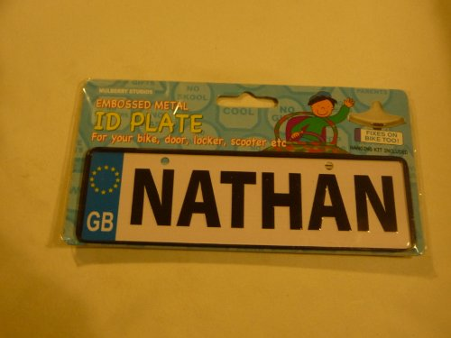 Price comparison product image Mulberry Studios Personalised Childrens Number Plate Nathan