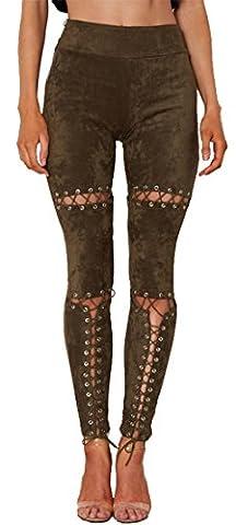 Longwu - Legging - Femme - vert - Medium