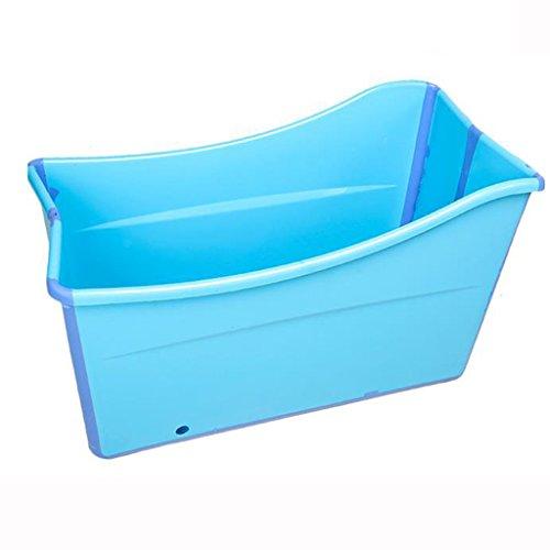 Baño adulto plegable bañera portátil, los niños juegan con bañera acolchada niño de verano (azul + rosa) HUACANG ( Color : Azul )