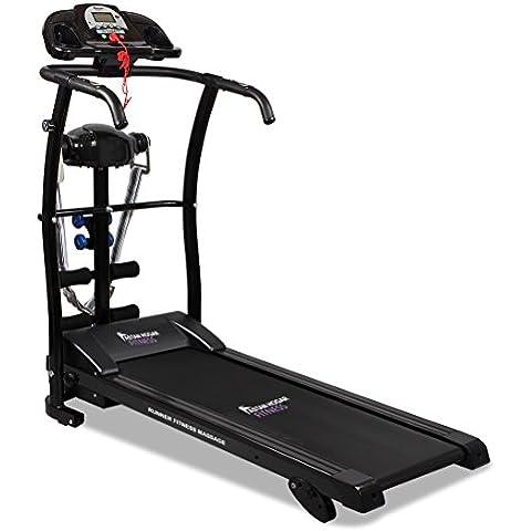 Cinta de correr Runner Fitness Massage Extreme. Incluye Cinturón de masaje. 3 niveles de inclinación y Sistema de