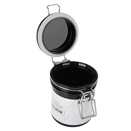 Rosvola Wimpernkleber Vorratstank, aktivierter versiegelter Kasten Glas Behälter Zylinder für Kosmetikerinnen, Salon Bastler