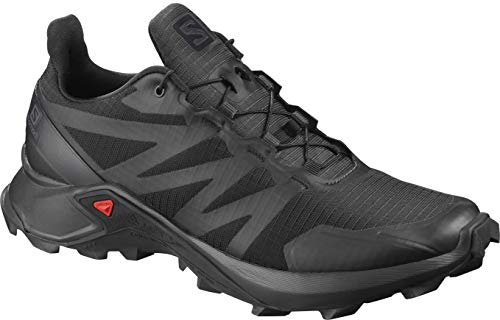 Salomon Supercross - Scarpa Trail Running Uomo (Black/Black/Black) Cos 409300 (EU 41 1/3 - UK 7.5 - US 8 - CM 26)