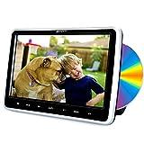 """Pumpkin Reproductor DVD Coche - 10.1"""" HD LCD Reproductor con Unidad Óptica de Succión, DVD Portátil Coche con Mando a Distancia, Soporta Tarjeta SD/USB/CD/DVD Región Libre"""