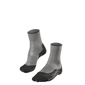 FALKE ESS Damen Running RU4 Wool Socken – 1 Paar, Größe 35-42, verf. Farben: schwarz, grau, Schurwollmischung – Feuchtigkeitsregulierend, schnelltrocknend, Erwärmungseffekt, Mittelstarke Polster