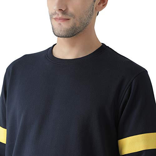 Griffel Full Sleeve Sweatshirt (XXX-Large, Navy)