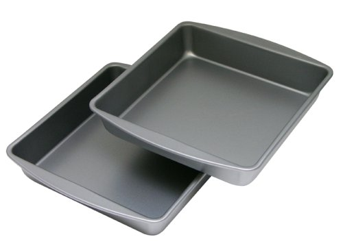 OvenStuff Non-Stick Square Cake Pan 2 Piece Set, 9