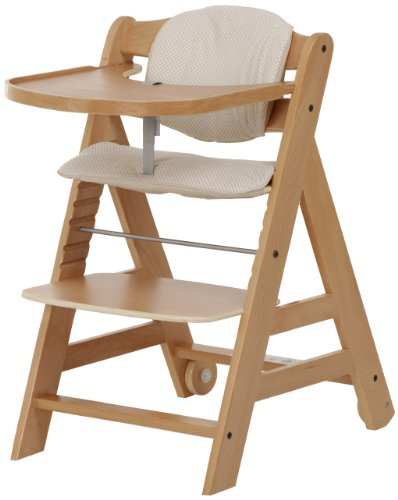 Hauck Beta grandir avec vous – Chaise Haute en bois – Naturel