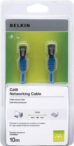 Belkin CAT6 SNG/SHD Patch-Kabel 10m blau