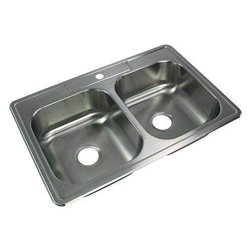 Transolid STDE33227-1 Kitchen Sink, Stainless Steel