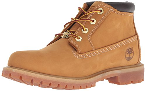Timberland Damen Nellie Waterproof (wide fit) Klassische Stiefel, Gelb (Wheat), 42 EU