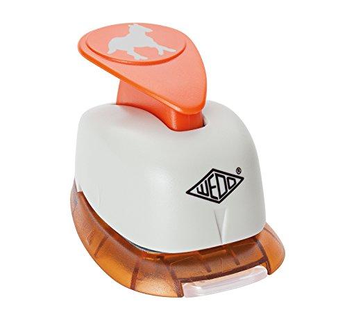 wedo-168220-motivlocher-gross-pferd-mit-praktischem-auffangbehalter-ausstanzung-21-x-22-cm-grau-oran
