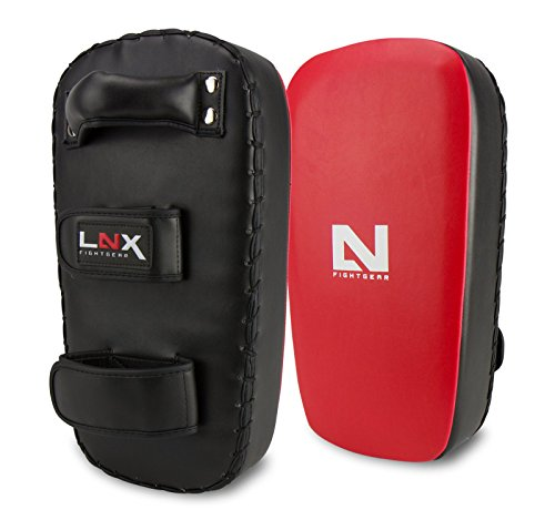 LNX Thai Pad Pro Fight - original Thai Style ideal für Kickbox Muay Thai Training usw. Schlagpolster Kickpolster Pratze Paar Style-kick Pads