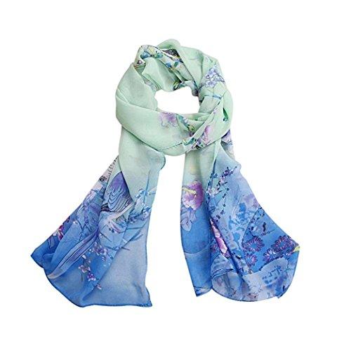 Bufandas para Mujer,Xinan Bufandas Gasa Suave Mantón Cuello Grande (Azul)
