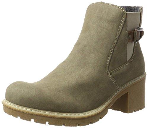 Rieker Damen X1561 Chelsea Boots, Grau (Dunst/Mogano), 38 EU