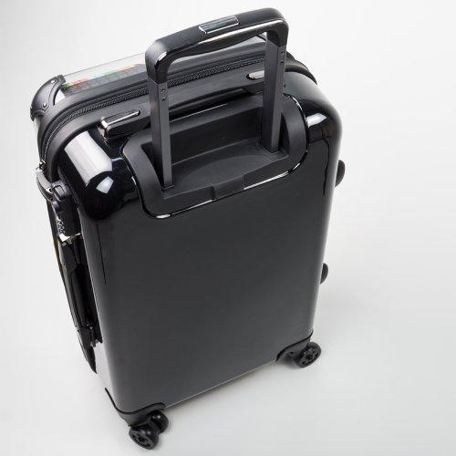 """HAUPTSTADTKOFFER® · Hartschalenkoffer Handgepäck Koffer Trolley Reisekoffer Hartschale · Serie """"Style"""" (Retro Sommer Strand) Boom Rot"""