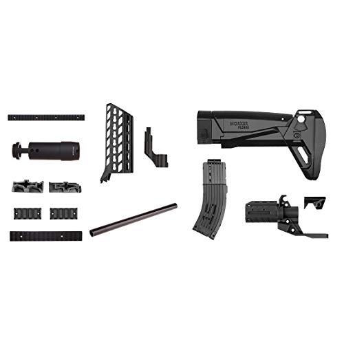 Momorain MOD F10555 AK Alfa Nachahmung Kit 3D Druck Kunststoff Combo Für Stryfe Ändern Spielzeug Für Nerf Teile Spielzeug Zubehör Geschenk (Farbe: schwarz & orange)