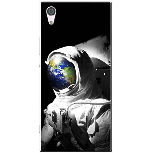 Astronautenanzug & Spiegelbild der Erde Hartschalenhülle Telefonhülle zum Aufstecken für Sony Xperia XA1 Ultra