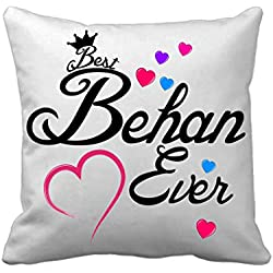 TiedRibbons® Return Gifts for Sister on Rakhi Printed Cushion Cover(12 Inch X 12 Inch) with Filler