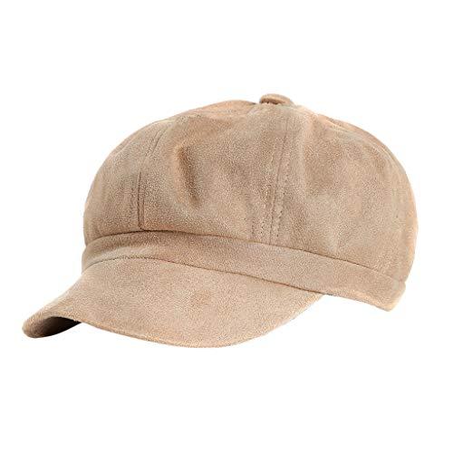 Epig Wildleder achteckige Mütze British Britische Retro-Damenmütze Beiläufige Normallack-Elegante Kappen-Mode-Pu-Maler-Hut -