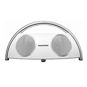 Harman/Kardon Go & Play Tragbares Wireless Bluetooth Lautsprechersystem Dockingstation mit Harman TrueStream Technologie Kompatibel mit Apple iOS und Android Geräten - Weiß