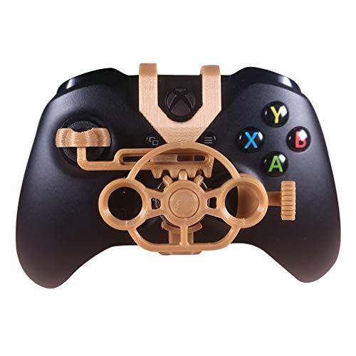 Xbox One Gaming-Rennrad, 3D-bedrucktes Mini-Lenkrad für Xbox One X/Xbox One S/Elite Controller goldfarben