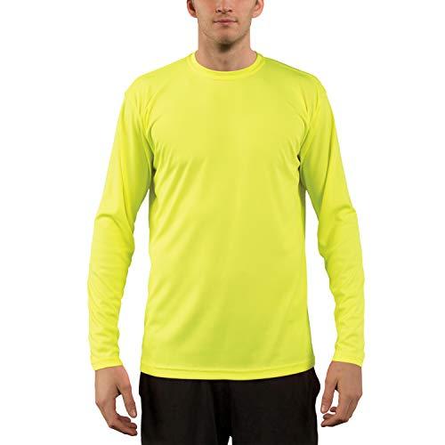 Crew Langarm Sport-shirt (Vapor Apparel Herren UPF 50+ UV Sonnenschutz Langarm Performance T-Shirt X-L Sicherheits Gelb)