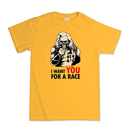 I Want YOU For A Mad Race T-shirt Gold