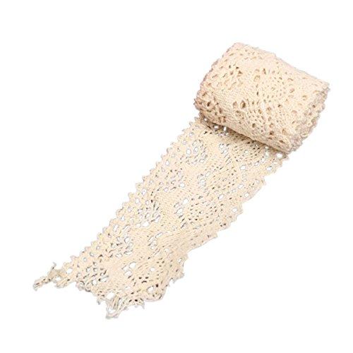 Spitzenbesatz - TOOGOO(R)Spitzenborduere Vintage Lace Edge Trim Hochzeit Spitze Rand Beige 4x82cm