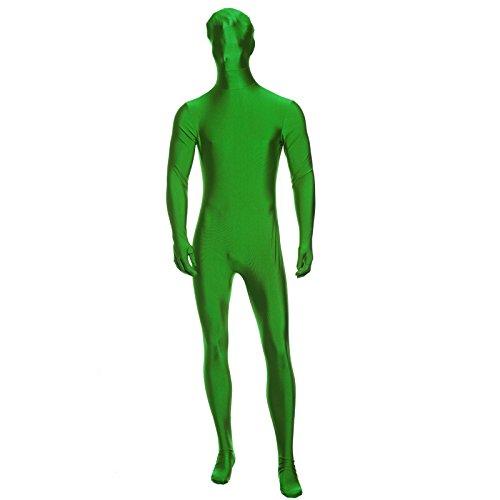SurePromise One Stop Solution for Sourcing Herren Gruen Zentai Party Gag Ganzkoerperanzug Ganzkoerperkostuem Second Skin Suit Ganzkoerper Kostuem - Grün Skin Suit Kostüm