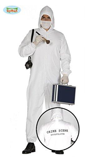 Polizei Kostüm Kriminaltechniker Spurensucher Gerichtsmediziner Overall für Herren Damen CSI Gr. M/L, Größe:L