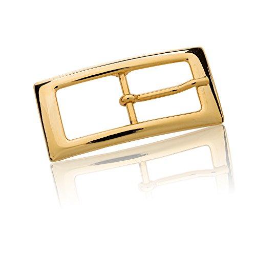 FREDERIC HERMANO Gürtelschnalle Buckle 20 mm Metall gold poliert - Buckle Kiew - Dornschliesse für Gürtel mit 2 cm Breite - goldfarben poliert