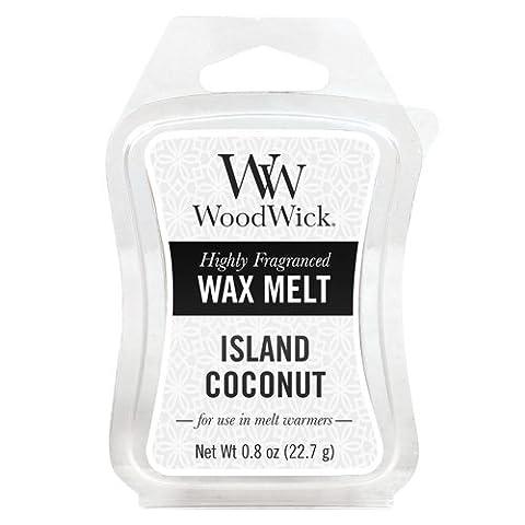 WoodWick Mini Wax Melt Island Coconut, White