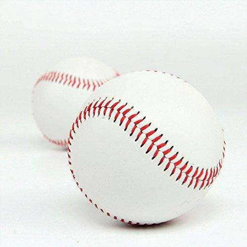 Cestval Offizielle Basebälle Freizeit Baseball Praxis Softbälle Weicher Ball Training Ball Anfänger Baseball bälle für League Play Wettbewerb Spiel Geschenke 1 Stück Weiß