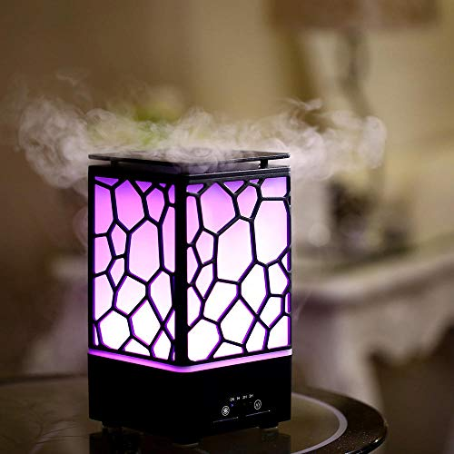 SHOPPOSTREET Essential Oil Diffuser Water Cube Humidifier Air Freshener with LED Night Light Changing Aroma Diffuser for Office Home Travel Yoga and Baby Room with 200ml Water Capacity (Multicolor)