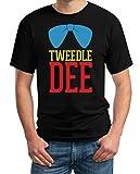 Tweedledee Zwiedeldei Tweedledum Zwiedeldum Kostüm Schwarz Medium T-Shirt - Wunderland Wonderland Alice