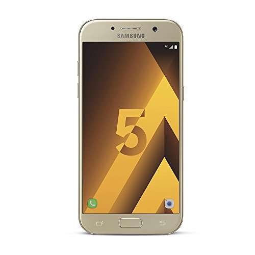 Samsung Galaxy A5 2017, Smartphone libre (5.2'', 3GB RAM, 32GB, 16MP) [Versión francesa: No incluye Samsung Pay ni acceso a promociones Samsung Members], color Dorado