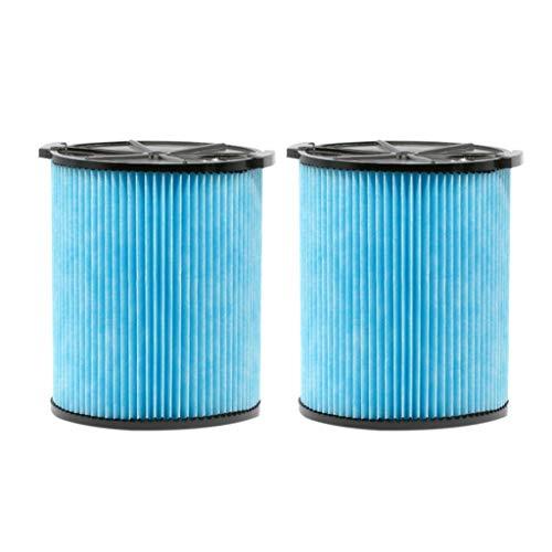 ToDIDAF Staubsauger-Zubehör, Ersatzteile für Kehrroboter, für Ridgid V5000 Staubsauger, 3-lagiger Faltenpapiersauger 2 Stk (Ridgid Akku-set)