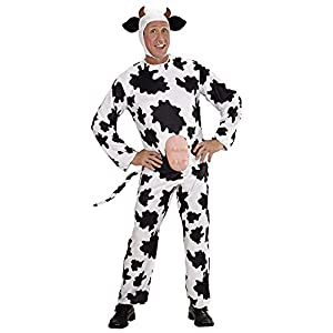 "Mens Funny Cow Costume Extra Large UK 46"" for Animal Jungle Farm Fancy Dress"
