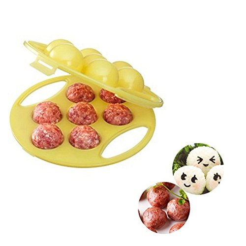 funnytoday365Frikadellen Maker Mochi Reis Bälle Form Lovely Hand gefüllt Fleisch Ball Maker Küche Werkzeuge -
