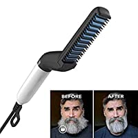 DZBMY Hair Straightening Brush Multifunctional Hair Comb Brush Quick Beard Straightener Men
