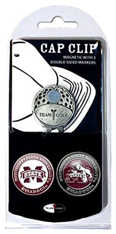 NCAA Mississippi State Bulldogs Cap Clip With 2 Golf Ball Markers