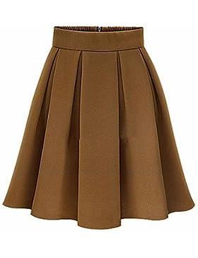 De las mujeres Faldas-Sobre la rodilla Vintage / Para Trabajo Microelástico-Poliéster / Licra , xl