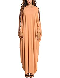 Zhhlaixing Femmes Muslims Dresses Musulmans Caftan Moyen-Orient Robes  Islamique Arabe Abaya Maxi Cocktail Robe ad012bae777