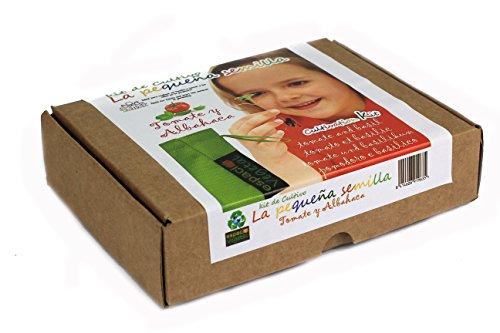 LA PEQUEÑA SEMILLA. Tomate le basilic. Kit de culture.